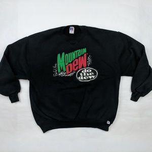Vintage Russell Mountain Dew Xl Sweatshirt Black